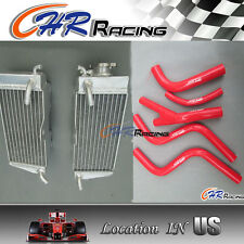 Honda CR250 CR 250R CR250R 1985 -1987 1986 aluminum radiator+HOSE RED NEW