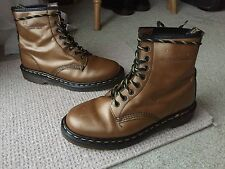 Vintage Dr Martens 1460 gold shimmer leather boots UK 7 EU 41 punk skin England