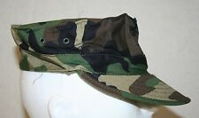 MIL-SPEC USMC MARINE BDU WOODLAND CAMO UTILITY HEX COVER HAT CAP SIZE XL US MADE