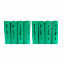 8 x AA 2A 2800mWh 1.6V Volt NiZn Rechargeable Battery Cell Power AM3 UM3 Green