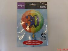 "Qty=4 Anagram 17"" Thirty Birthday Balloon ""30 Celebrate!"" Standard Foil Baloon"