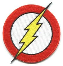 THE FLASH lightning bolt logo EMBROIDERED IRON-ON PATCH applique dc29 dc comics