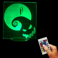 Nightmare Before Christmas 3D USB Jack and Sally Multi-color LED Night Light
