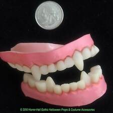 SOFT Monster Horror Teeth-VAMPIRE FANGS DENTURES Werewolf Costume-Kid Teen-SMALL