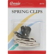 Annie Spring Clips Hair Pins Contour Snap Central Metal Accessories Style #3174