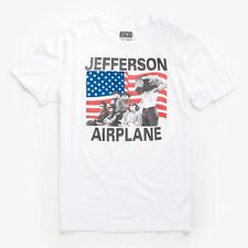 Lucky Brand - Mens L - White Jefferson Airplane American Flag Cotton T-Shirt