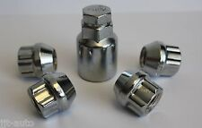 M12 X 1.5 OPEN END LOCKING ALLOY WHEEL LOCK NUTS  TOYOTA ALTEZZA AURIS AVALON