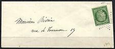 FRANCE n° 2, 15 c vert CERES de 1849-50 sur lettre pour Paris, cotée 1.750 € !