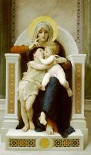 Virgin Baby Jesus John Baptist Bouguereau Canvas or Fine Art Print Poster