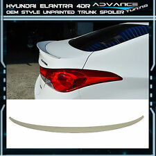 Fit For 10-15 Hyundai Elantra 4Dr Unpainted ABS OE Style Rear Trunk Spoiler