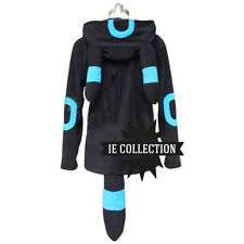 POKEMON UMBREON SHINY FELPA CON CAPPUCCIO COSPLAY noctali costume vestito eevee