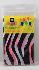 "Zebra Print Party Plastic Table Cover Pink Black 54"" x 84"" All Occasion"