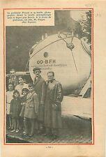 Professeur Piccard Nacelle Strastosphérique Zurich Suisse 1932 ILLUSTRATION