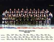 1990 WINNIPEG JETS TEAM PHOTO 8X10