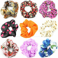 HAIR SCRUNCHIES SCRUNCHIE BOBBLE ELASTIC LADIES GIRLS SPORTS GYMNASTICS SCRUNCHY