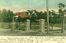 """Orlando,FL. Virginia Heights,1906 """"shot a rattle snake yesterday"""" Hand-Colored"""