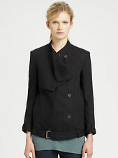 HELMUT Helmut Lang Black Surge Cotton Trench Coat Jacket Size Small S