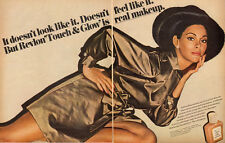 1967 vintage cosmetics ad, Revlon 'Touch and Glow' Liquid Makeup- 041213