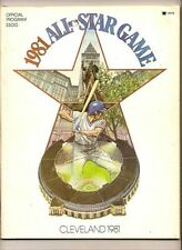 1981 MLB All Star Game Program Cleveland