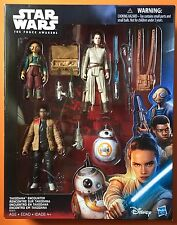 Star Wars The Force Awakens Takodana Encounter Action Figure Set Fin BB-8 Rey