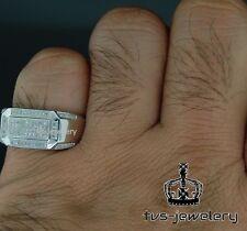 14K White Gold Mens White Diamond Wedding Engagement Pinky Ring Band 1.20 Ct