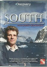 SOUTH WITH JAMES CRACKNELL DVD - SIR ERNEST SHACKLETON'S HEROIC VOYAGE