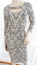 Nwt Material Girl Knit Stretch Cutout Bodycon Dress S Small Leopard Nude Black