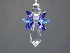 Midnight Angel Crystal Suncatcher with Beautiful Swarovski Crystals and Prism
