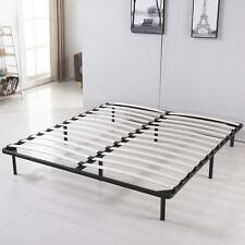 King Size Metal Platform Bed Frame Wood Slats Modern Home Bedroom Furniture New