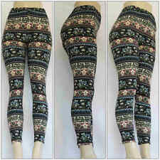 Fashion Flower Colorful Printed Leggings Women Stretch One Size Skinny Pants #6