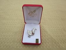 Christmas Brooch Signed Lia with Geese  R13T1