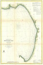 1857 Coastal Survey Map Nautical Chart of Monterey Bay California