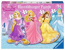 Para niños Disney Princesa 4 en forma de 10, 12, 14, 16 Pieza Rompecabezas
