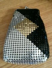 NWT Black & Gold & Silver Mesh Sequin Luxury Fashion 100's Cigarette Snap Case