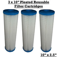"10"" WASHABLE WATER FILTER REUSABLE FILTERS BIO DIESEL VWO / HARD WATER X3"