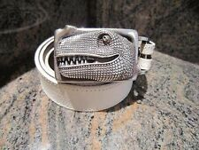 RARE!!! Kieselstein-Cord T-REX Buckle With White Lizard Belt