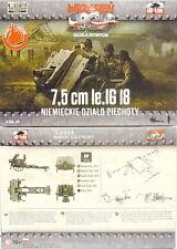 7,5 cm le.IG 18 mit Besatzung, Speichenräder, First To Fight, 1/72 Plastik ,NEU,