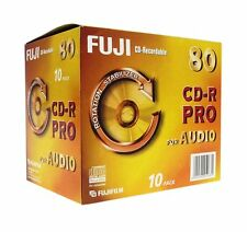 Fuji CD-R Pro Digital Audio 700MB Disc 80min Recordable Discs Jewel Case Pack 10