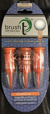 Brush T Golf Tees, 3 Pack New   Orange, Oversize T