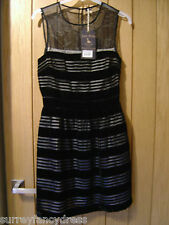 Jack Wills Tanyard Black Velvet Devour Ladies Dress Size 8 NEW (tags) RRP £98.50