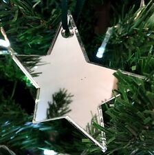 Mirrored Star Christmas Tree Decoration - Pack of Ten