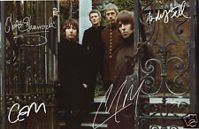 BEADY EYE ENTIRE GROUP AUTOGRAPH SIGNED PP PHOTO POSTER