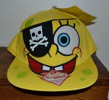PIRATE SPONGEBOB SQUARE PANTS Adult Flat Bill Snapback Hat Licensed Nickelodeon