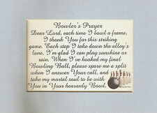 BOWLERS Prayer BOWLING Sports STRIKE Frame BALL Pins SPLIT verses poems plaques