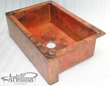 Ariellina Farmhouse 14 Gauge Copper Kitchen Sink Lifetime Warranty New AC1818 NF