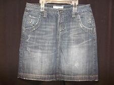 MAURICES Factory Distressed Women's JEAN Skirt  Size 11 / 12