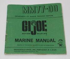 Vintage GI Joe Marine Manual MM77-00 GI2075
