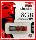 KINGSTON 8GB USB G2 MEMORY STICK PEN FLASH DRIVE CARD DATATRAVELER FIRST DEL