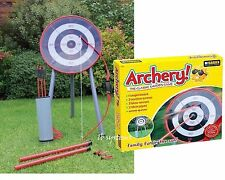 GARDEN ARCHERY SET GAME OUTDOOR FUN BOW ARROWS TARGET BLOW PIPE & DARTS PARTY