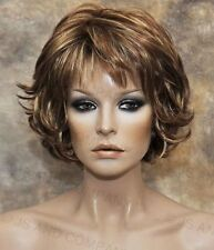 Red Blonde Auburn mix flip ends Everyday wig Multiple layers Classy chic lo RS29